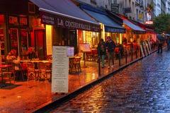 Kolorowej restauraci łaciny ćwiartki Zachodni bank Paryż Francja Zdjęcie Royalty Free