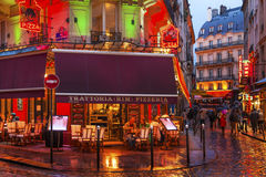 Kolorowej restauraci łaciny ćwiartki Zachodni bank Paryż Francja Zdjęcia Royalty Free
