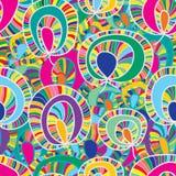 Kolorowej rośliny tkaniny bezszwowy wzór Fotografia Royalty Free