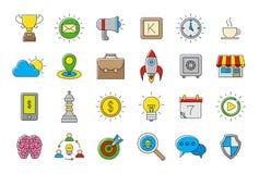Kolorowej sieci wektorowe ikony ustawiać ilustracja wektor