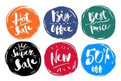 Kolorowej symbol kolekci ustalona Specjalna Gorąca sprzedaż, Duża oferta Fotografia Stock