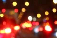 Kolorowej tła bokeh nocy abstrakcjonistyczny kolor, Zamazany defocused wielo- kolor zaświeca, Abstrakcjonistyczny bokeh tło bożon Obrazy Stock