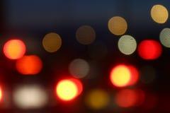 Kolorowej tła bokeh nocy abstrakcjonistyczny kolor, Zamazany defocused wielo- kolor zaświeca, Abstrakcjonistyczny bokeh tło bożon Obraz Royalty Free
