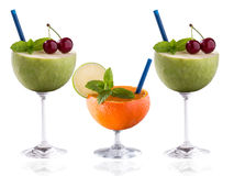 Kolorowej witaminy owocowego koktajlu bogaty pojęcie Obraz Stock