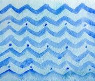 Kolorowej zimy błękitnego atramentu i akwareli tekstury na białej księgi tle Ręka malująca geometryczna abstrakcjonistyczna ilust royalty ilustracja