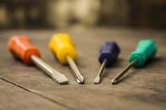 Kolorowi śrubokręty Zdjęcie Royalty Free