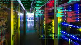 Kolorowi światła w serwerze górują zbiory wideo