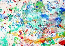 Kolorowi żywi pluśnięcia, kolorowy żywy pastelowy tło, abstrakcjonistyczna kolorowa tekstura Obrazy Royalty Free