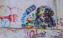 Kolorowi abstrakcjonistyczni graffiti Fotografia Stock