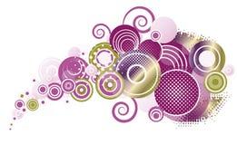 Kolorowi abstraktów okręgi Ilustracja Wektor
