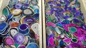 Kolorowi agatów talerze Zdjęcie Royalty Free