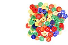 kolorowi asortowani guziki Fotografia Stock