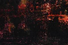 Kolorowi błyszczący ściegi, narysy, punkty na czerni malowali kruszcowego tło zdjęcia stock