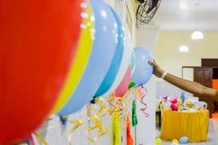 Kolorowi balony dla dziecka przyjęcia Zdjęcia Royalty Free