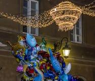 Kolorowi balony dla sprzedaży w postaci zwierząt przeciw backgr Obraz Royalty Free