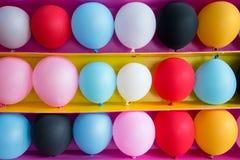 Kolorowi balony jak cele dla bawić się balonowe gry zdjęcie royalty free