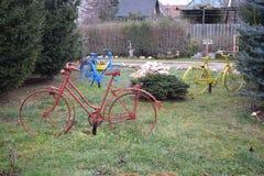 Kolorowi bicykles Zdjęcia Royalty Free