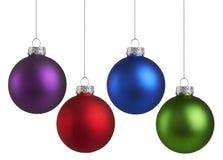 Kolorowi boże narodzenie ornamenty fotografia royalty free