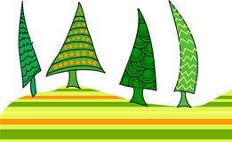kolorowi Bożych Narodzeń drzewa ilustracja wektor