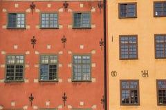 Kolorowi budynki w Stockhom, Szwecja Obrazy Royalty Free