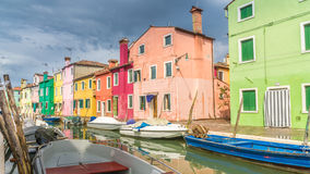 kolorowi burano domy fotografia royalty free