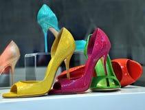 Kolorowi buty Zdjęcia Royalty Free