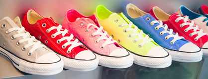Kolorowi buty Zdjęcia Stock