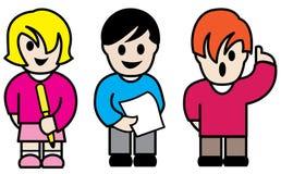 kolorowi charakterów dzieci Obrazy Royalty Free