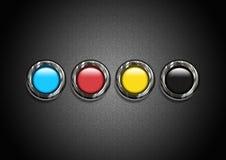Kolorowi charaktery w teksturze Zdjęcie Stock