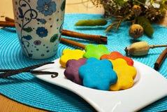 Kolorowi ciastka  Fotografia Royalty Free