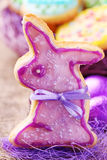 kolorowi ciastka dekorowali Easter Fotografia Royalty Free