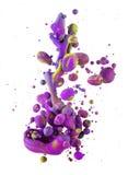 Kolorowi ciecze miesza pod wodą Obrazy Royalty Free