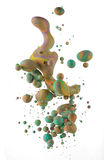Kolorowi ciecze miesza pod wodą Zdjęcie Stock