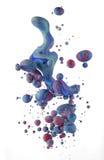 Kolorowi ciecze miesza pod wodą Obraz Stock