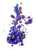 Kolorowi ciecze miesza pod wodą Zdjęcia Stock
