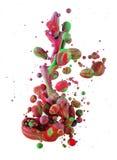 Kolorowi ciecze miesza pod wodą Obraz Royalty Free