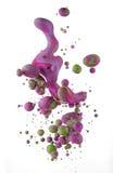 Kolorowi ciecze miesza pod wodą Obrazy Stock
