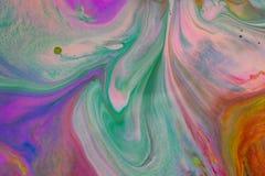 Kolorowi ciecze miesza pod wody zakończeniem up obrazy stock