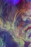 Kolorowi ciecze podwodni abstrakcjonistyczny kolorowy skład Obraz Stock