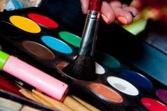 Kolorowi cienie z muśnięciem Obrazy Stock