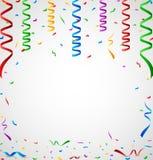 Kolorowi confetti na białym tle Obrazy Stock