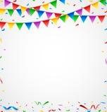 Kolorowi confetti na białym tle Zdjęcia Stock