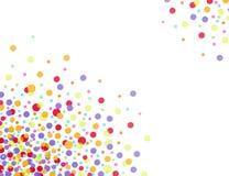 kolorowi confettis Zdjęcia Royalty Free
