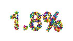 Kolorowi cukierków cukierki w kształcie 1 procent 8 Obrazy Royalty Free