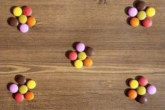 Kolorowi cukierki dla bacgrounds Obraz Royalty Free