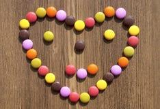Kolorowi cukierki dla bacgrounds Fotografia Royalty Free