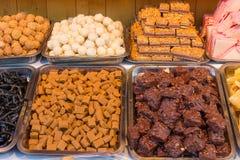 Kolorowi cukierki przy rynkiem Fotografia Stock