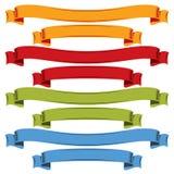 Kolorowi curvy faborki odizolowywający na białym tle Fotografia Royalty Free