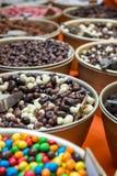 Kolorowi Czekoladowi cukierki Zdjęcia Stock