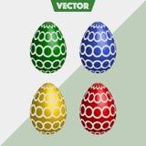 Kolorowi 3D Wielkanocnych jajek Wektorowi okręgi obraz royalty free